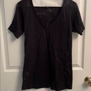 BCBG black size small sheet black short sleeve top